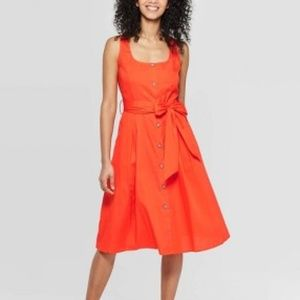 Women's Sleeveless Square Neck Dress